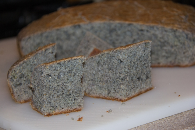 Beautiful Blue Corn Cornbread