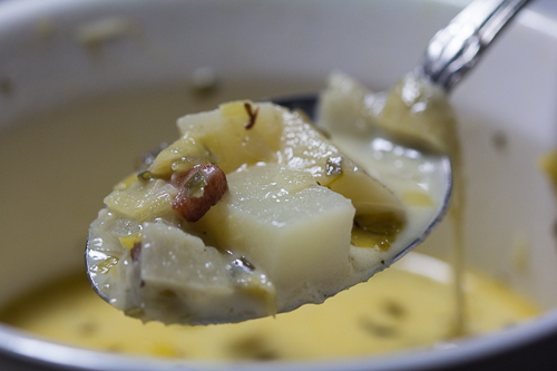 A Spoonful Chunky Leek Soup