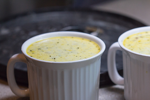Cups of Leek Soup