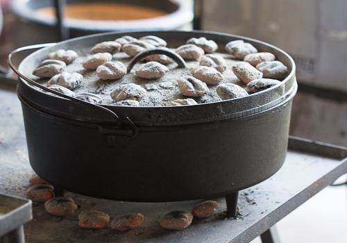 Hot Charcoals Hot Oven
